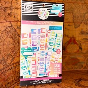 "Happy Planner ""Layered Boxes"" Sticker Book"